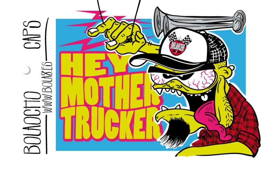 etiqueta para las gorras Trucker de Bola8